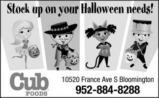 Stock Up On Your Halloween Needs!