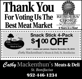 Thank You for Voting Us the Best Meat Market