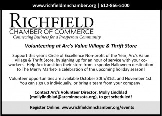 Volunteering at Arc's Value Village & Thrift Store