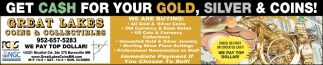 Get Cash For Your Gold, Silver & Coins!