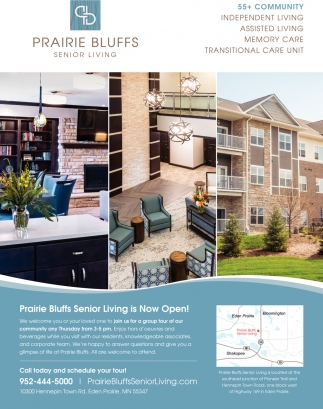 Prairie Bluffs Senior Living is Now Open!