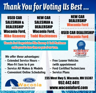 Thank You for Voting Us Best...