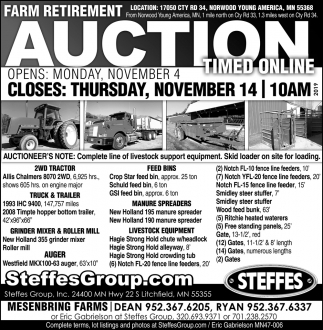 Farm Retirement Auction