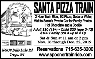 Santa Pizza Train
