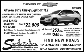 All New 2019 Chevy Equinox 1LT