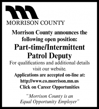 Part-Time/ Intermittent Patrol Deputy