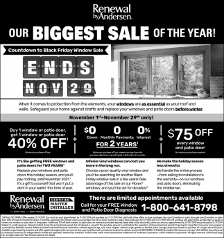 Our Biggest Sale of the Year!