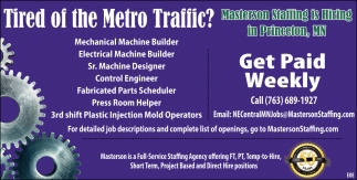 Tired of the Metro Traffic?