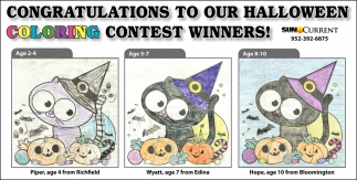 Congratulations to Our Halloween Coloring Contest Winners!