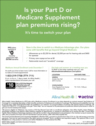 Is Your Part D or Medicare Supplement Plan Premiums Rising?