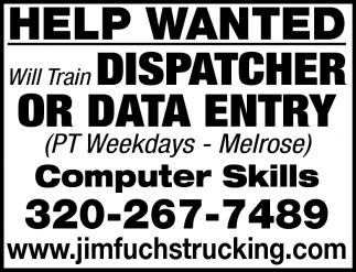 Dispatcher or Data Entry