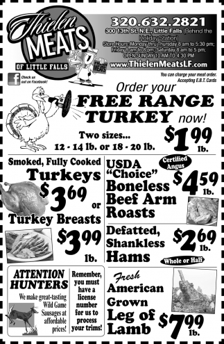 Order Your Free Range Turkey Now!