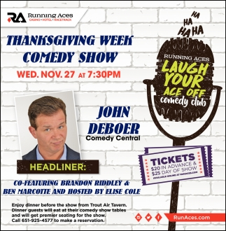 Thanksgiving Week Comedy Show