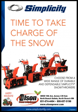 Time to Take Charge of the Snow