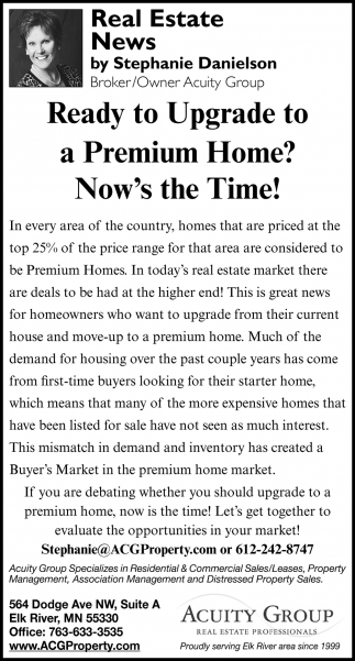 Ready to Upgrade to a Premium Home?