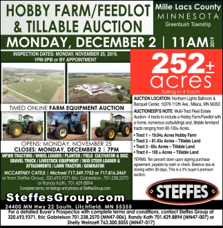 Hobby Farm/ Feedlot & Tillable Auction