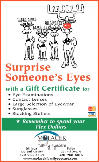 Surprise Someone's Eyes with a Gift Certificate