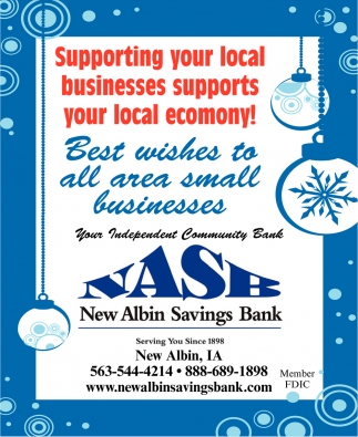 Best Wishes to All Area Small Businesses