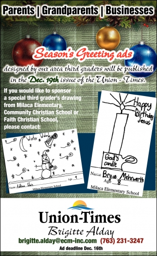 Season's Greeting Ads