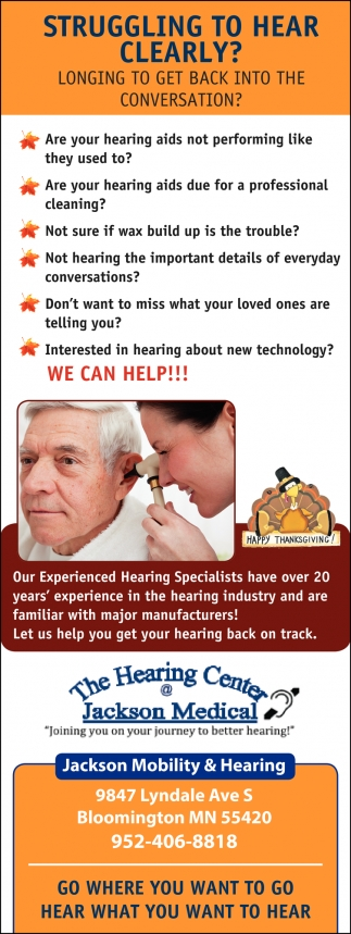 Struggling to Hear Clearly?