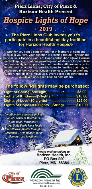 Hospice Light of Hope 2019