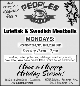 Lutefisk & Swedish Meatballs