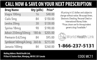 Call Now & Save on Your Next Prescription