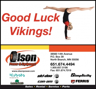 Good Luck Vikings
