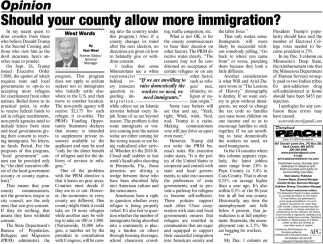 Should Your County Allow More Immigration?