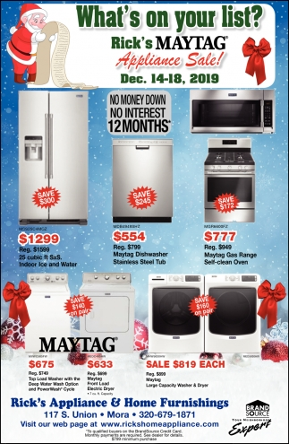 Appliance Sale!