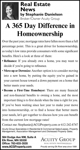 A 365 Day Difference in Homeownership