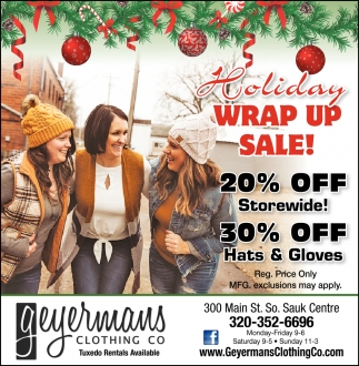 Holiday Wrap Up Sale!