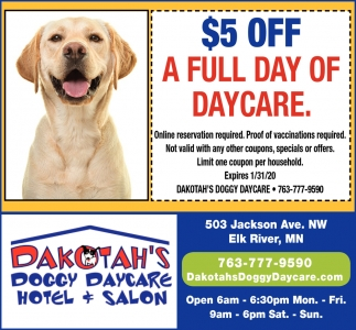 $5 OFF A Full Day of Daycare