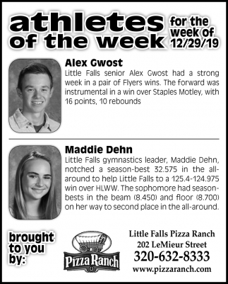Athletes of the Week