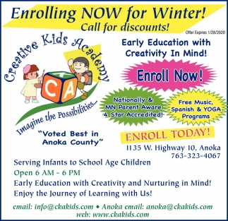 Enrolling Now for Winter!