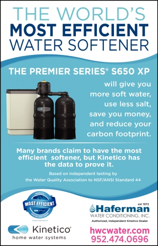 The World's Most Efficient Water Softener
