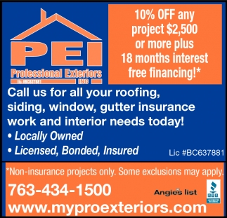 Call Us for All Your Roofing Needs Today!