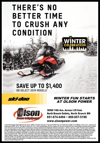 Winter Fun Starts at Olson Power