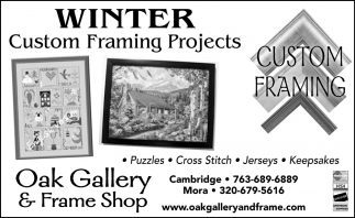 Winter Custom Framing Projects