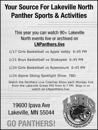 Your Source for Lakeville North Panther Sports & Activities