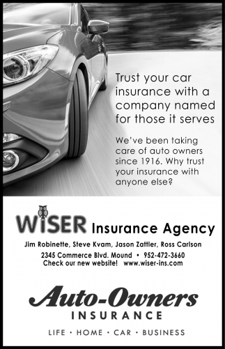 Trust Your Car Insurance with a Company Named for Those it Serves