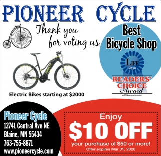 Thank You for Voting Us Best Bicycle Shop