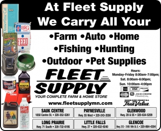 At Fleet Supply we Carry All