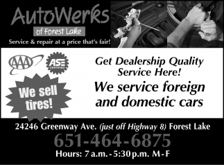 Get Dealership Quality Service Here!