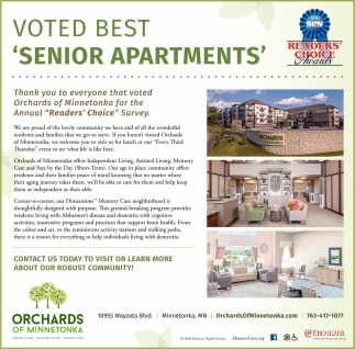 Voted Best 'Senior Apartments'
