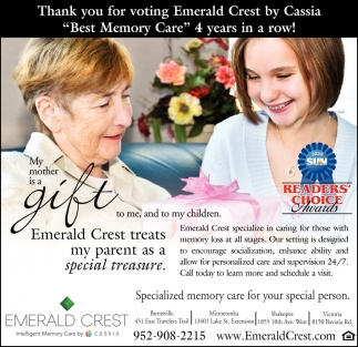 Thank You for Voting Emerald Crest by Cassia