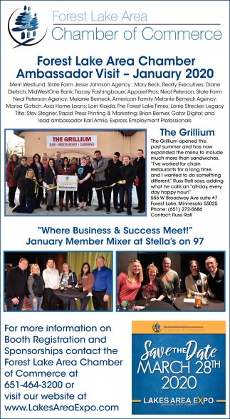Forest Lake Area Chamber Ambassador Visit - January 2020
