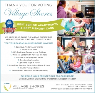 Thank You for Voting Village Shores
