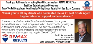Thank You Robbinsdale
