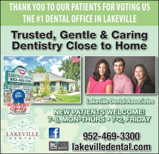 Thank You to Our Patients for Voting Us the #1 Dental Office in Lakeville